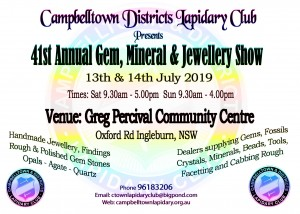 Campbelltown Lapidary Gem Exhibition Show