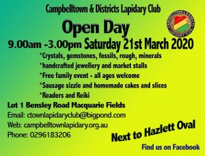 Campbelltown Lapidary Open Day Markets